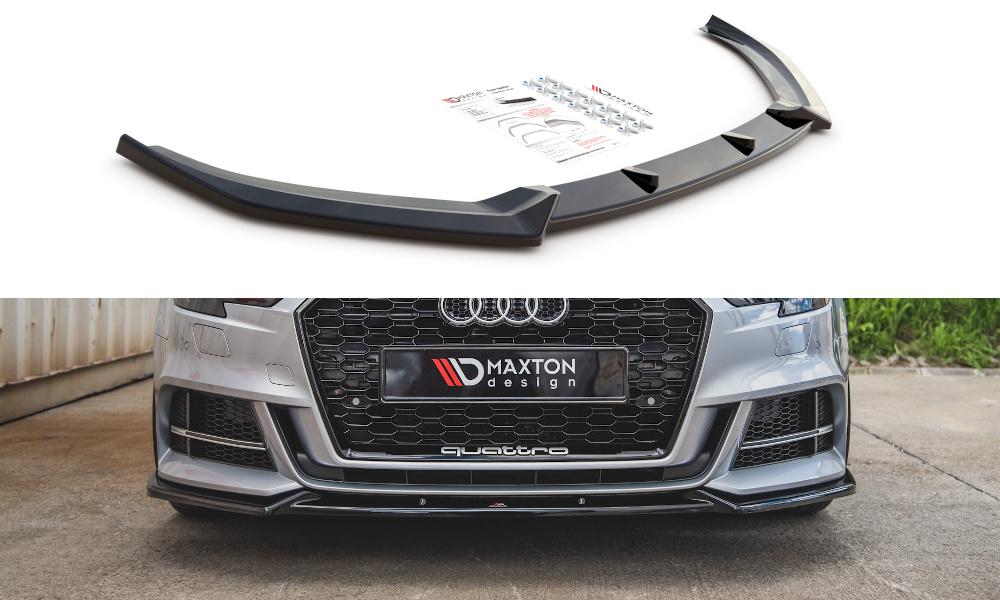 Splitter Przedni V.3 Audi S3/A3 S-Line 8V Facelift - GRUBYGARAGE - Sklep Tuningowy